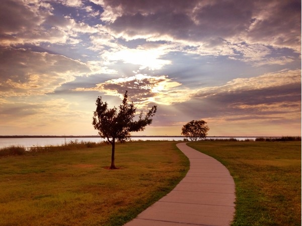 Perfect way to end a day when you choose the Lake Hefner Walking Trails in NW Oklahoma City
