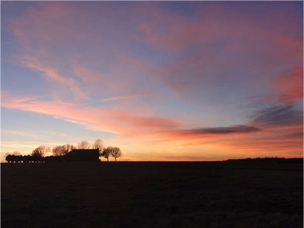 Beautiful sunset on the Parker Ranch located in Mayes County