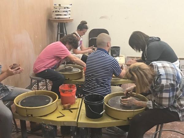 Pottery Class at Edmond Fine Arts