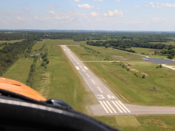 Clear skies at Poteau Airport. Great day for flying high above the crowd