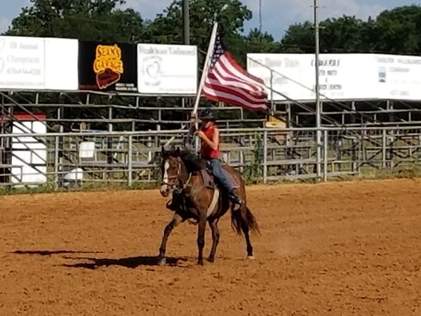 Ole Glory...... nothing like watching the participants during the Grand Entry