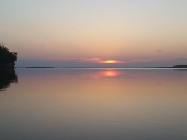 Salt Plains Lake at sunset
