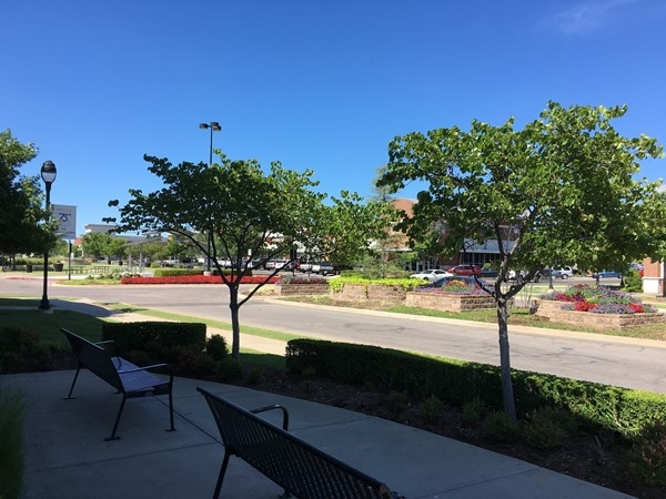 It's a busy day in Midwest City's Towne Center Plaza! Join us