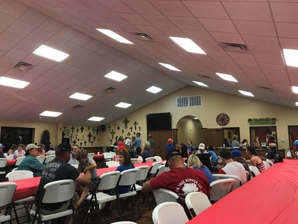 Community Fellowship Church hosts an annual ice cream social before the fireworks begin