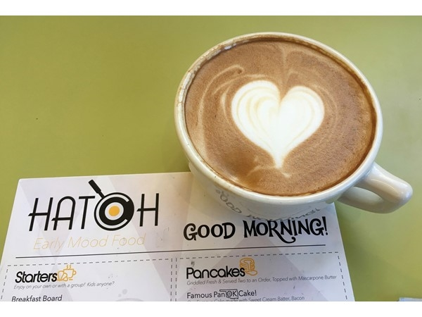 Hatch OKC. Start your day with a delicious and artful Latte Macchiato