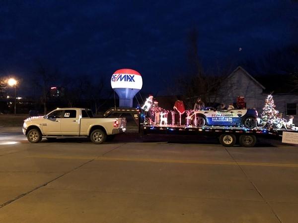 Christmas parade along Main Street