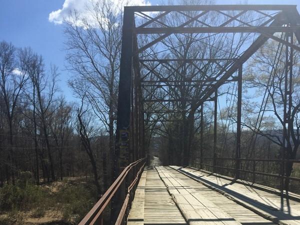 Albion Iron Bridge over the Kiamichi River. A rare find