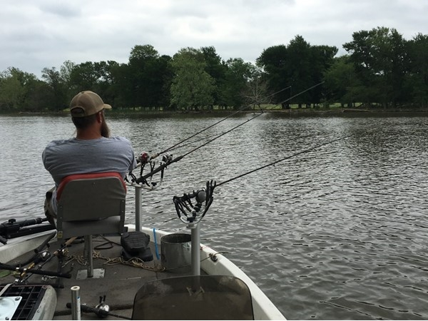 The crappie are biting on Sans Bois Creek in Haskell County