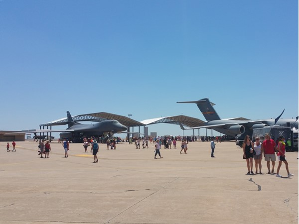 A variety of planes at Vance Air Show 2016