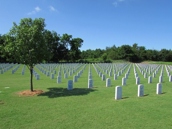 Fort Gibson National Cemetery - one of only 147 national cemeteries in the United States