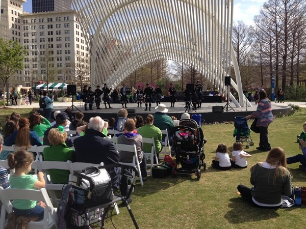 Spending St. Paddy's Day at Myriad Gardens