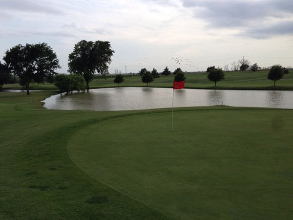 Elk City Golf and Country Club - Don't hit left on this short par 3