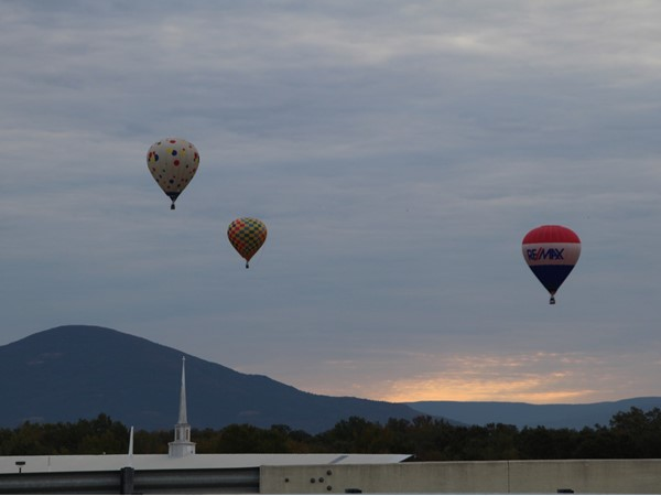 Poteau Balloon Fest. What a beautiful sight