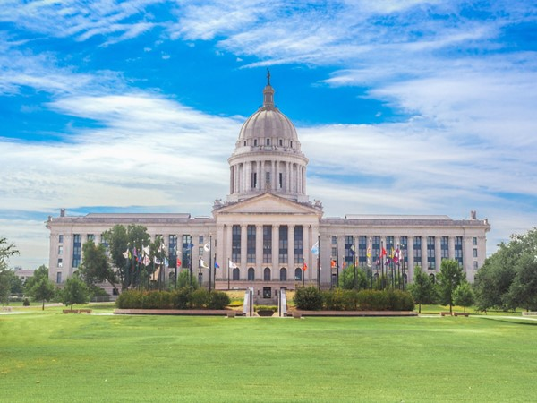 The OK State Capitol is classically styled in the Grand Beaux Arts tradition