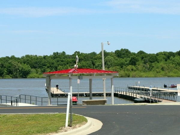 New boat docks at Wolf Creek Boat Launch - Grove, OK