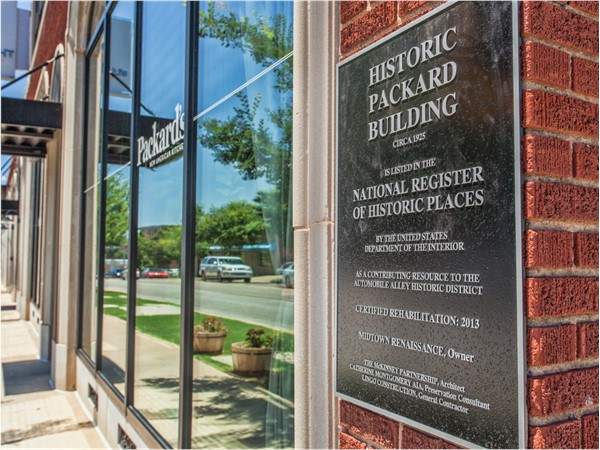 The Packard Building was erected in the 1920s and housed the Packard Automobile showroom