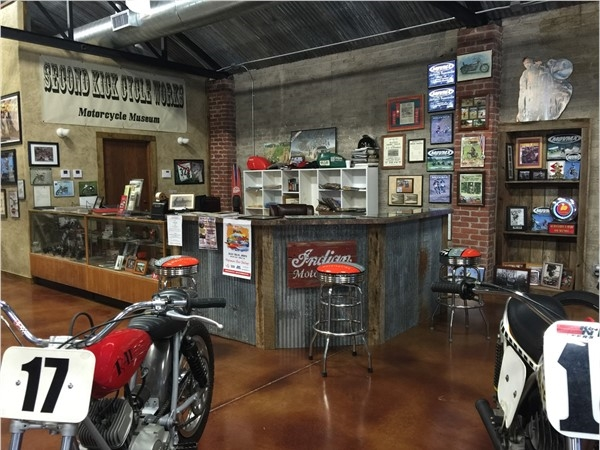 Motorcycle Museum in downtown Grove