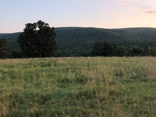Beautiful view of the hills in Red Oak.  Great whitetail and turkey hunting in Southeastern OK