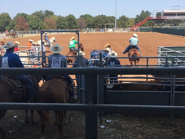 High school rodeo action in the heart of Oklahoma at Shawnee