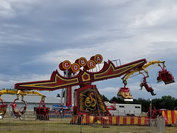 Carnival rides are up and going at the Poteau Balloon Fest in Leflore County
