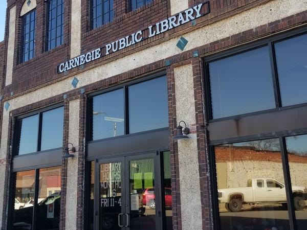 Carnegie Public Library in downtown Carnegie