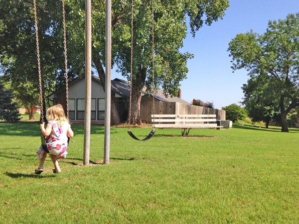 The Heritage Hills green belt is a great place for outdoor fun