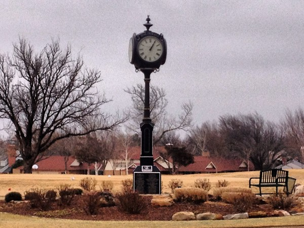 "Despite the gray skies it's always ""time to golf"" at the Quail Creek Country Club"