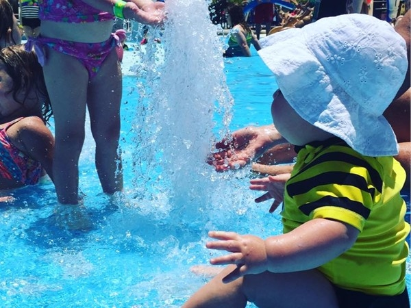 Need a place to cool off on these hot summer days?  The splash pad is the perfect place