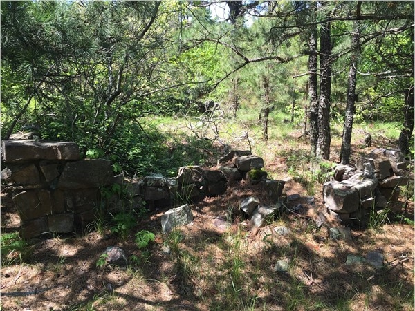 Old cabin site on top of Kiamichi Mountain in Leflore County