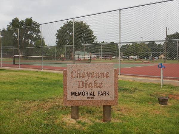Play tennis at Cheyenne Drake Memorial Park