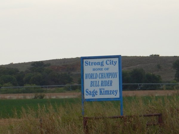 Strong City proud - home of World Champion bull rider