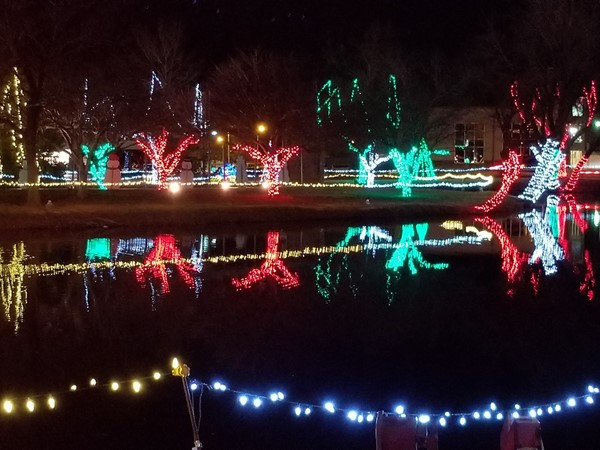 Elk City all lit up for Christmas in the Park