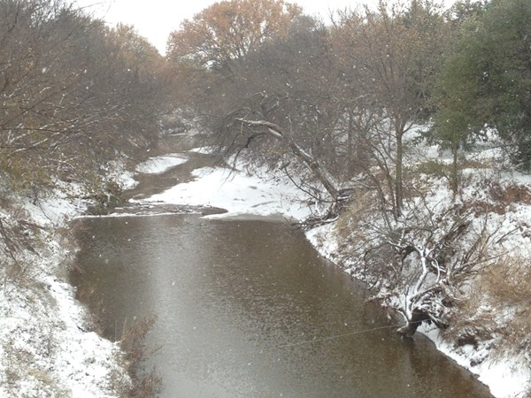 Creek and snow near Ames