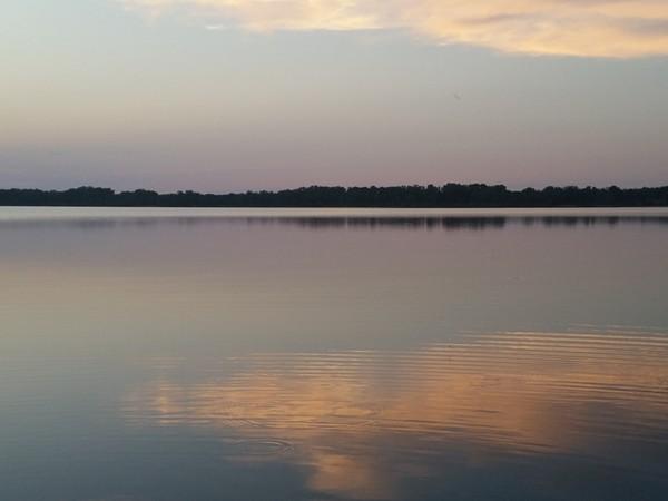 Gorgeous sunset view of Salt Plains Lake