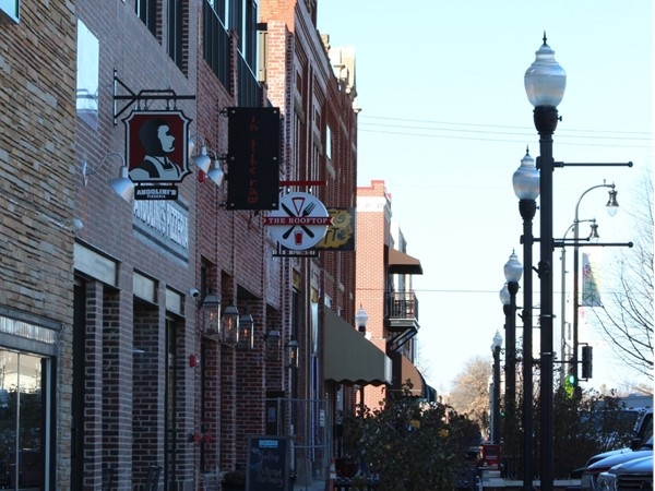 The innovative Rose District in downtown Broken Arrow offers multiple dining and shopping choices