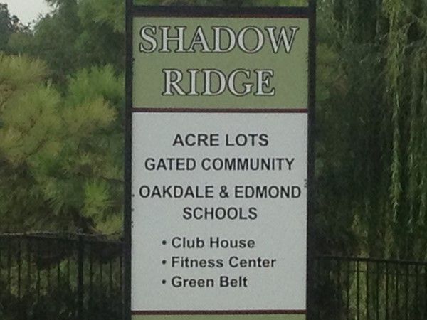 Relevant details of this beautiful addition, Shadow Ridge