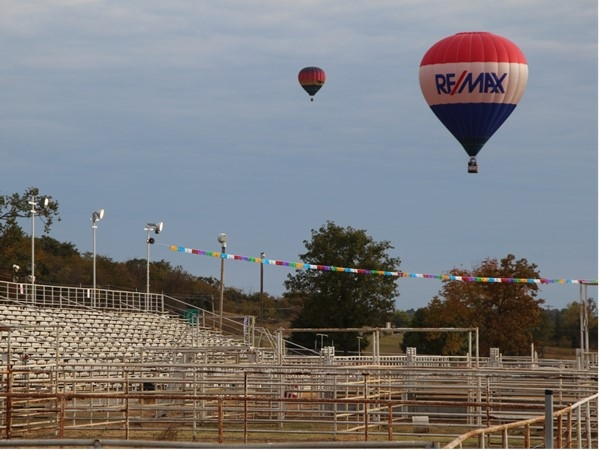 Rodeo grounds in Poteau. RE/MAX with a birds-eye-view