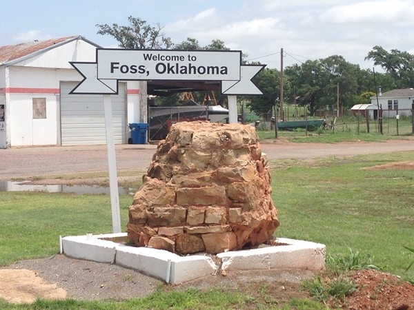 Route 66 passes through the town of Foss