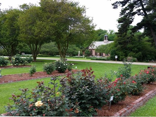 Beautiful gardens at the Rural Life Museum in Baton Rouge