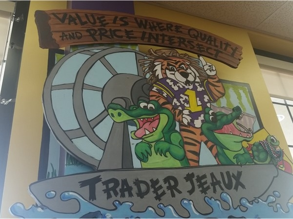 Mural at Trader Joe's at Acadian and Perkins