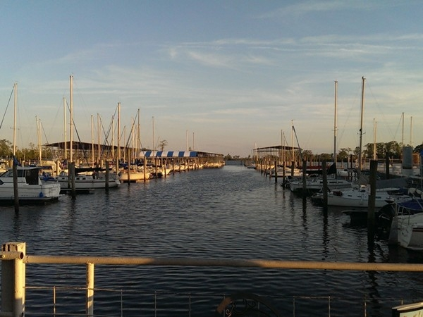 Sunset on the Tchefuncte River from the Marina