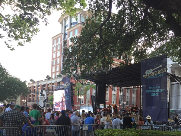 Wednesdays at the Square in Lafayette Square has local bands and great food during spring