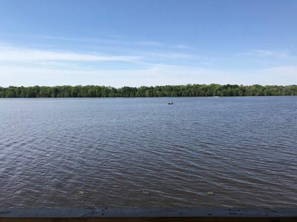 Beautiful day for fishing on Larto Lake