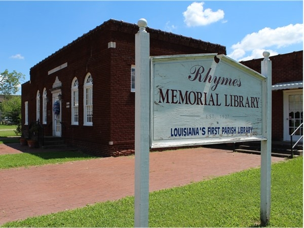 The Rhymes Memorial Library, located in Rayville, is Louisiana's first parish library