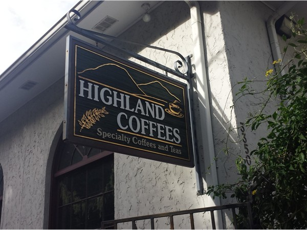 Highland Coffees is a local coffee shop near the north gates of LSU