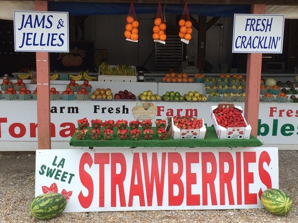 Fresh fruits, jams, jellies, and more available at the Market in Abita Springs