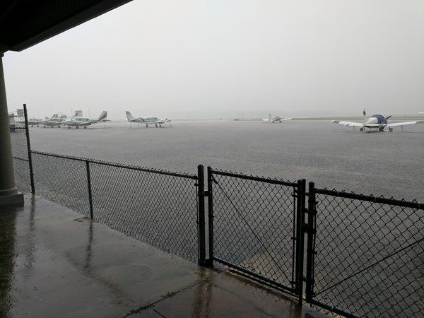 Rainy day at the Hammond Northshore Regional Airport