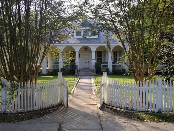 Maison Lafitte, circa 1880, is a special event facility, nestled among lovely crepe myrtle/oak trees