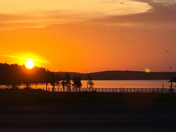 Lake goers can enjoy beautiful sunsets like this one taken from Folley Beach in Farmerville