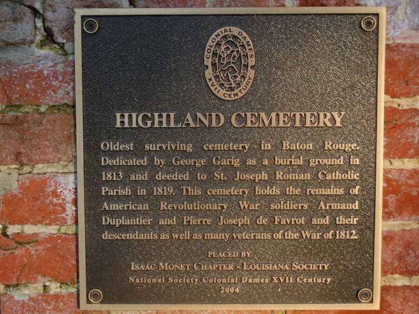 Just steps from the College Town neighborhood park, this cemetery is a piece of Baton Rouge history